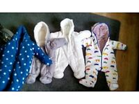 Babys all in one suits two are brand new other two worn couple times.