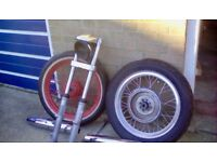 Harley Sportster Ironhead wheels, forks, yokes, headlight shell+mount, bobber,chopper