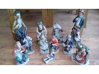 """""""Capo di Monte"""" style figurines"""