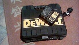 Dewalt 10.5ah/10.8v battery & charger ,case , also chargers 14.4v & 18v batterys