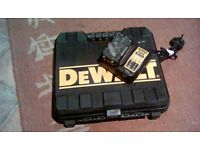 Dewalt 10.5ah/10.8v battery & charger ,case , also chargers 14.4v & 18v batterys