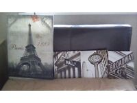 Job lot of canvas pictures