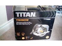 TITAN 1500 WATT CIRCULAR SAW WITH LASER - NEW IN BOX