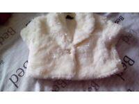 Childs fun fur sleeveless jacket £3