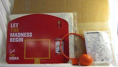 New STOLI VODKA Advertising FREESTANDING Mini BASKETBALL BACKBOARD SET Fun Play - Freestanding Basketball Set