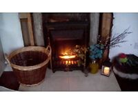 Fireplace, hearth, electric fire. Perfect condition and working.