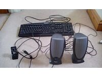 Computer keyboard,speakers and webcam - Bath/Wiltshire area