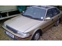 1989 TOYOTA CARINA II 1.6 GL ONLY 112,000 MILES IDEAL EXPORT £300 NO OFFERS