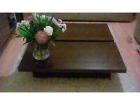 Coffee table hidden storage