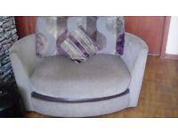 Corner sofa n cuddle chair