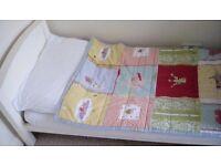 Lovely John Lewis white wooden Cot Bed (Elizabeth model) Cotbed