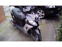 125 scooter matrix qingqi black and silver full mot