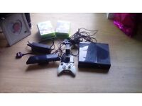 Xbox 360 with 10 games rechargeable controller and kinect console