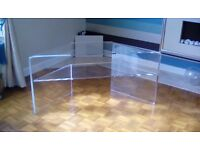 Corner TV Stand - Acrylic - 560mm high and 1180mm wide