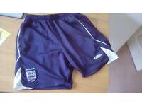Umbro England football shorts - size small