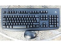 Logitech Deluxe 650 Cordless keyboard and mouse, as-new condition
