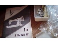Singer sewing machine - Manual good working order. Collection only