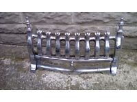Fire front in silver .41cm x26cm .for open fire.good condition