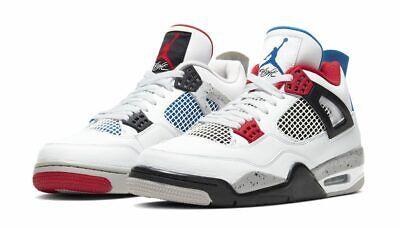 NIKE Air Jordan Retro 4 IV What The White Red Blue PS TD Baby Kid Women Sz (Retro The Kid)