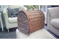 Cat wicker basket...