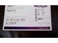 Half price ticket for Mamma Mia at Southampton