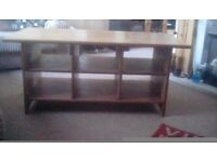 Used Ikea Leskvik coffee table with storage compartments