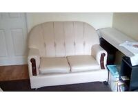 Sofas 3 + 2 seater, cream colour, used ok condition, free but must be collected