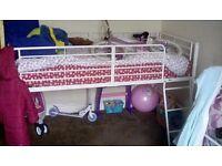 Kids white metal bed