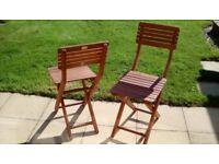 X2 Hardwood Garden Chairs - from NEXT
