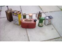 Old oil/petrol/ grease cans