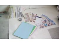 Card making kit, self sealing plastic pockets, loads of envelopes, coloured mix of card, stickers