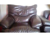 Leather sofa ok conditon free collection only chair very comfy free free free free free