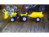Jcb tractor and trailer