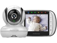 Motorola MBP36S Digital Video Monitor Colour LCD Display night vision temperature baby warranty