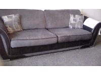 Sofa 4seater grey reduced again to £90 needs to go asap