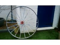 Big wheel of horse cart ideal garden ornament