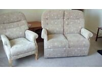 2 seater sofa and chair