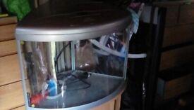 Ufo 550 corner fish tank and unit