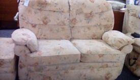 Two Seat Sofa, Reclining Armchair and Footstool #30220 £199