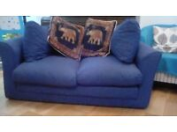 Sofa bed in blue, FREE good condition only slept on 4 times,