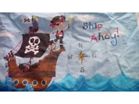Pirate bedding single duvet and pillow case suit boy or girl