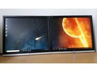"2x19"" Viewsonic LCD Dual Monitors,Dual Screens/Extended Displays,ideal for PC,CCTV etc"