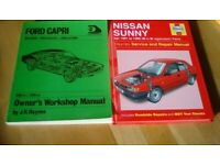 Large collection of car repair manuals