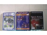3 classic motorbike dvds british bikes