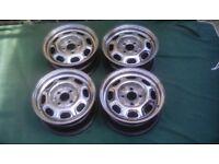 Vw steel wheels, polished vw vw