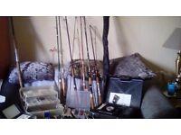 Fishing stuff reeels rods etc