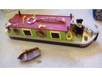 Sylvanian Families Canal Boat and People