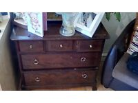 Five drawer chest solid wood