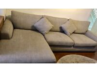 Grey Corner Sofa in Excellent Condition from Next Home Furniture