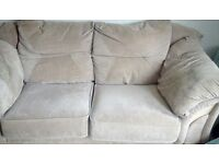 Suede effect 2 seater sofa